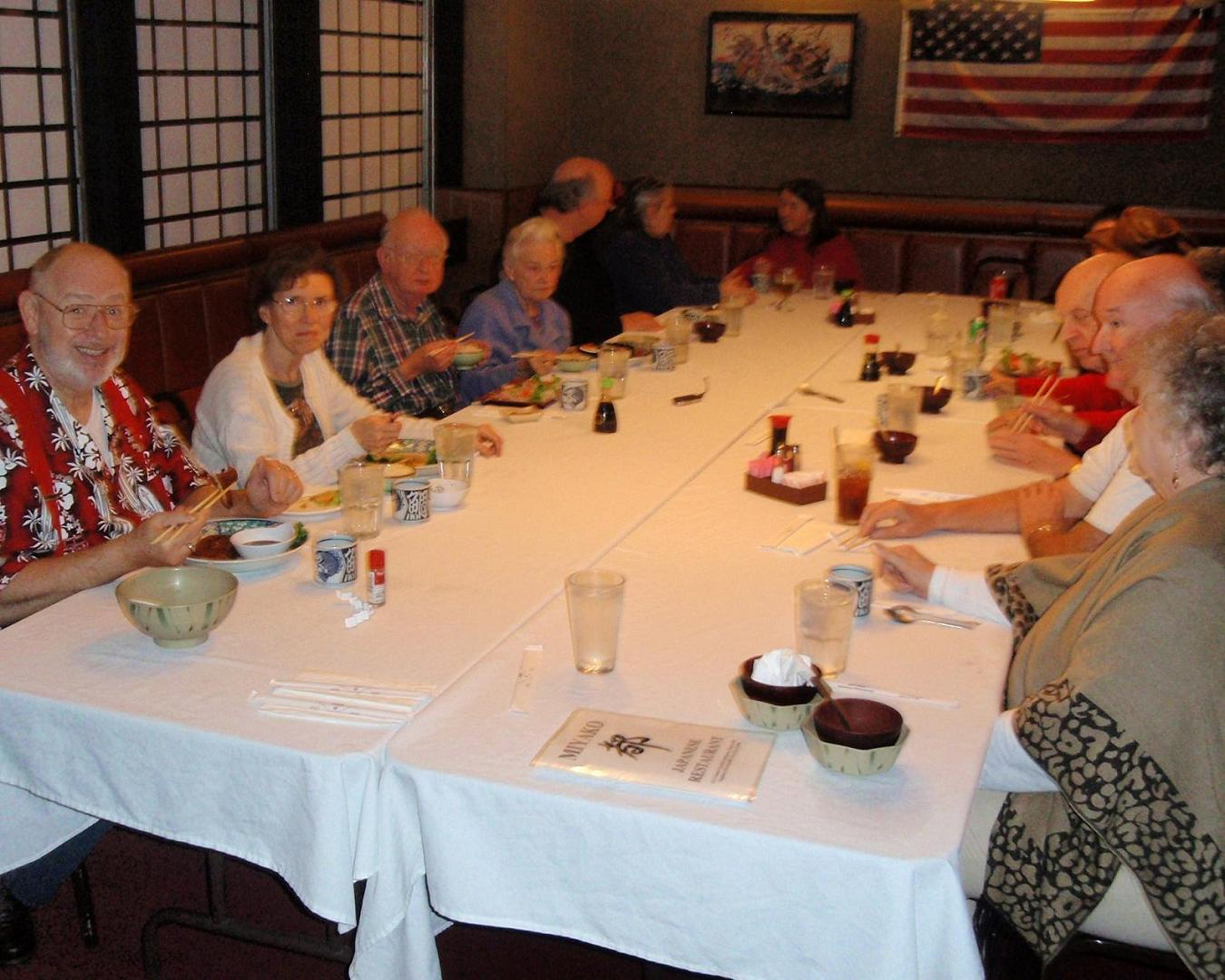 photo of SCAMsters eating at Miyako's restaurant during SNORT